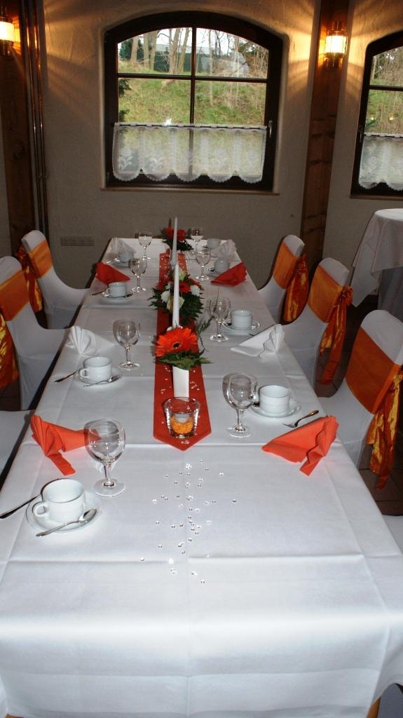 Festscheune Deko Orange