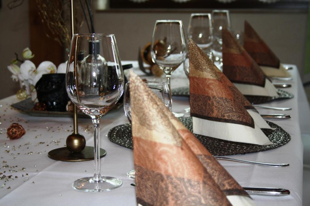 Tischdekoration vom Hotel Robinien Hof